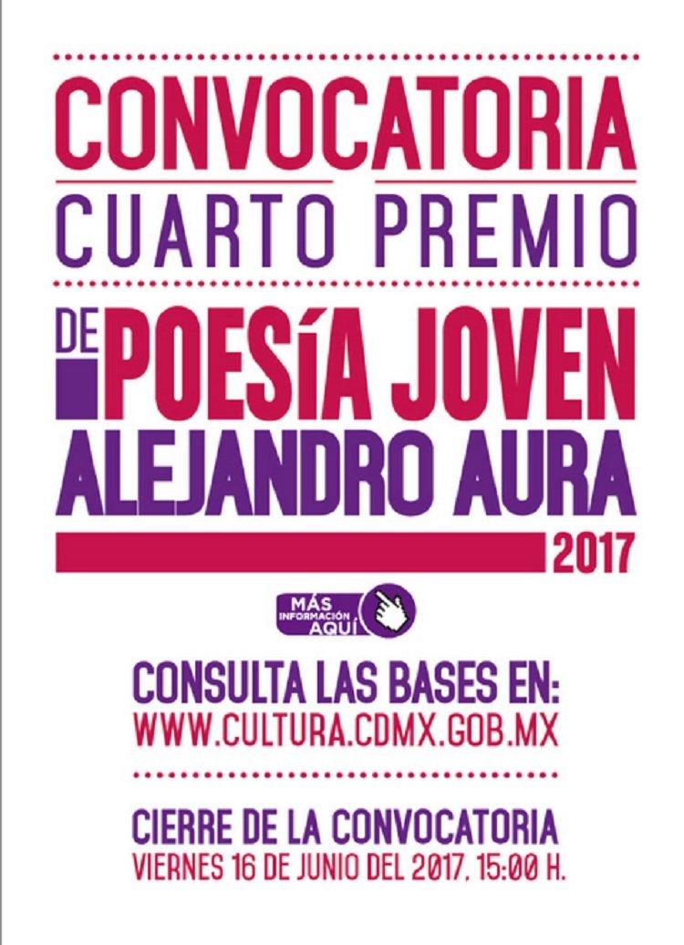 Convocan al Cuarto Premio de Poesía Joven Alejandro Aura